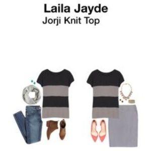d6bcc01371e STITCH FIX LAILA JAYDE NWT Stripe Knit Sweater Top